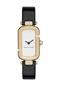 The Jacob Black Patent Leather Strap Watch BLACK/GOLD 1